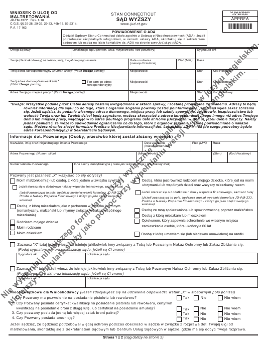 Form JD-FM-137P Printable Pdf
