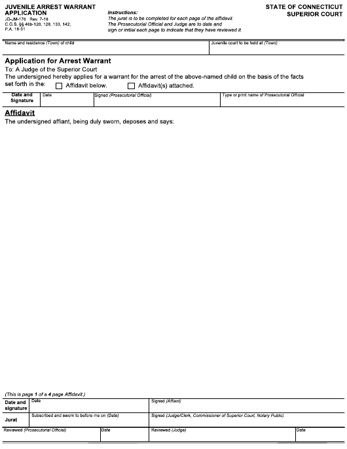 Form JD-JM-176  Printable Pdf