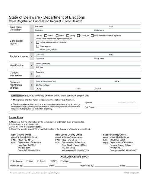 Form VRFM003 Printable Pdf