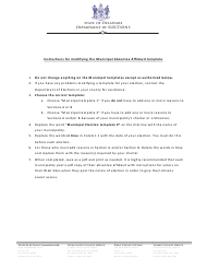 """Instructions for """"Modifying the Municipal Absentee Affidavit Template"""" - Delaware"""