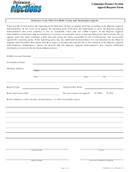 "Form CFFM043 ""Appeal Request Form"" - Delaware"