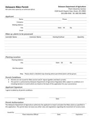 """Delaware Ribes Permit Form"" - Delaware"