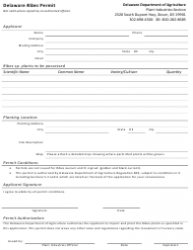 Delaware Ribes Permit Form - Delaware