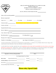 """Application for Rental at Redden State Forest Lodge"" - Delaware"