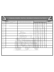 Weekly Visual Inspections Form - Delaware