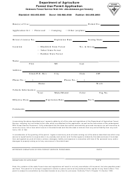 Forest Use Permit Application Form - Delaware