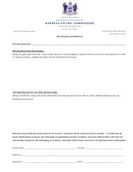 """Missing Record Affidavit Form"" - Delaware"