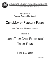 """Instructions for """"Cmp Request Form - Long Term Care Residents' Trust Fund"""" - Delaware"""