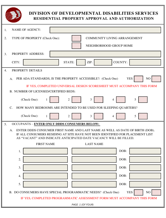 """Residential Property Approval and Authorization Form"" - Delaware Download Pdf"
