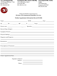 """""""Medical Appointment Information Record [mair] Form"""" - Delaware"""