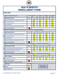 """Health Benefits Enrollment Form"" - Delaware"
