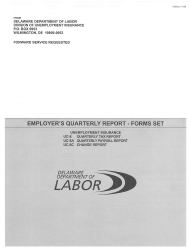 Form UC-8 Employer's Quarterly Report Forms - Delaware