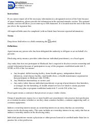 """Instructions for """"Provider Disclosure Statement Form"""" - Delaware"""