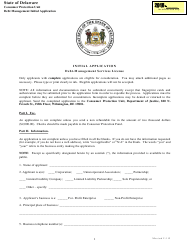 """Initial Application Form - Debt-Management Services License"" - Delaware"