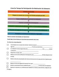 """""""Linea De Tiempo De Participacion De Medicacion"""" - Delaware (Spanish)"""