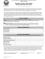 Form FDACS-01976 Natural Gas Fuel Fleet Vehicle Rebate Program Application - Florida