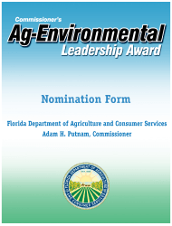 Form FDACS-01795 Nomination For The Commissioner's Annual Agricultural-environmental Leadership Award - Florida