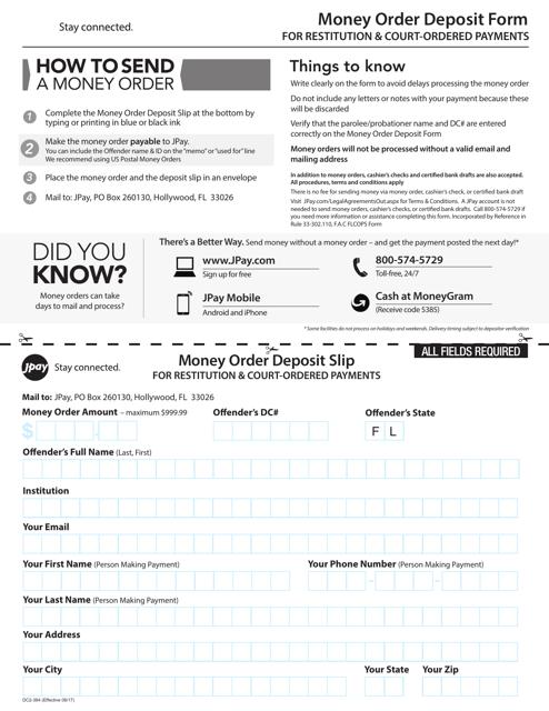 Form DC2-364  Printable Pdf