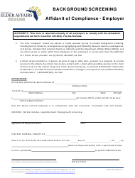 "DOEA Form 235 ""Affidavit of Compliance - Employer"" - Florida"
