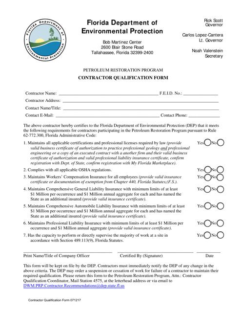 DEP Form 071217  Printable Pdf