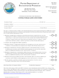 DEP Form 071217 Contractor Qualification Form - Petroleum Restoration Program - Florida