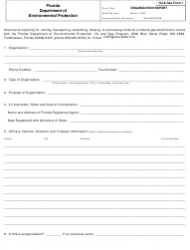 DEP Oil&Gas Form 1 Organization Report - Florida