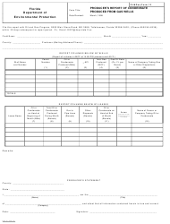 DEP Oil&Gas Form 12 Producer's Report of Condensate Produced From Gas Wells - Florida