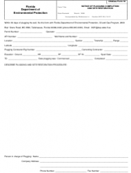 DEP Oil&Gas Form 16 Notice of Plugging Completion and Site Restoration - Florida