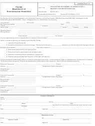 "DEP Oil&Gas Form 14 ""Application for Permit to Operate Well /Request for Recertification"" - Florida"