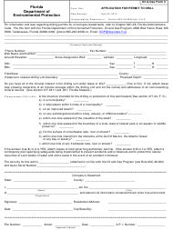 """Dep Oil&gas Form 3 """"Application for Permit to Drill"""" - Florida"""