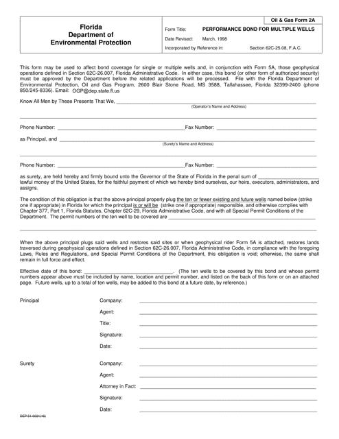 DEP Oil&Gas Form 2A  Printable Pdf