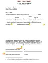 Letter of Credit Cover Letter - Florida