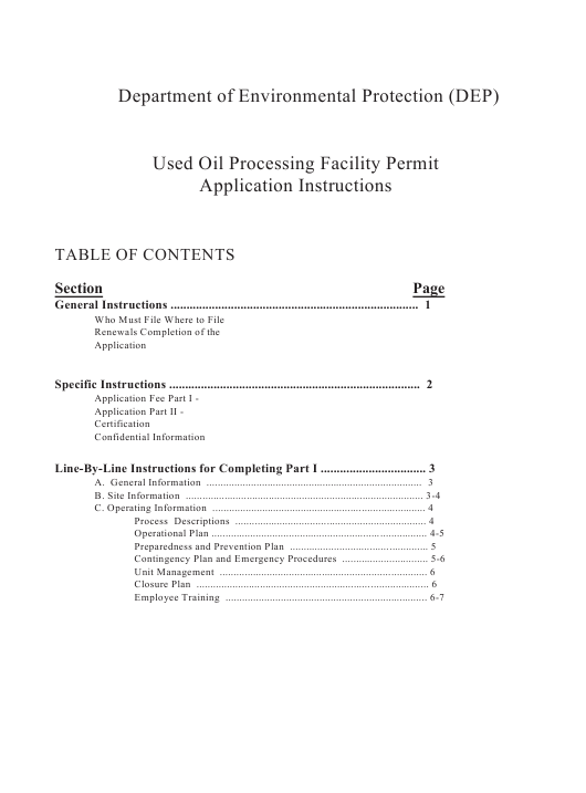 DEP Form 62-710.901(6)  Printable Pdf