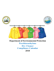 2018 Perchloroethyle Dry Cleaner Compliance Calendar - Florida