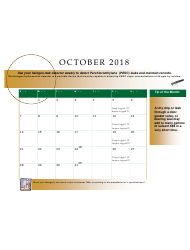 2018 Perchloroethyle Dry Cleaner Compliance Calendar - Florida, Page 23