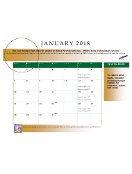 2018 Perchloroethyle Dry Cleaner Compliance Calendar - Florida, Page 5