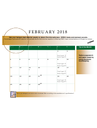 2018 Perchloroethyle Dry Cleaner Compliance Calendar - Florida, Page 7
