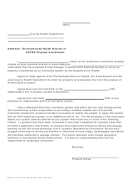 "Form DH3144 ""Homeowner Acknowledgment of Installation of Innovative Ostds"" - Florida"