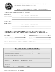 Form DH 3145 Innovative Onsite Sewage Treatment and Disposal System Review Information Form - Florida