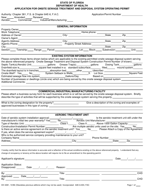Form DH4081  Printable Pdf