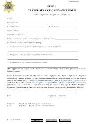 Attachment 1 - Step 1 Career Service Grievance Form - Florida