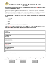 Purchasing Card (pcard) Expenditure Pre-approval Form (non-travel) - Florida
