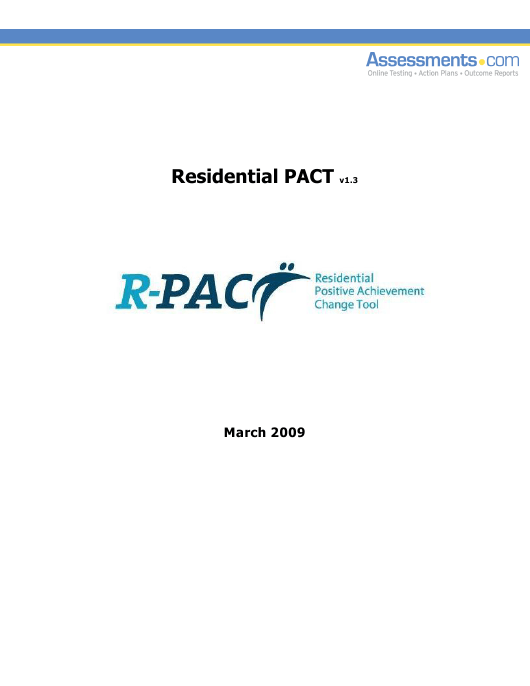 """""""Residential Positive Achievement Change Tool (Pact)"""" - Florida Download Pdf"""