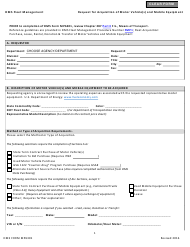 """DMS Form MP6301 """"Request for Acquisition of Motor Vehicle(S) and Mobile Equipment"""" - Florida"""