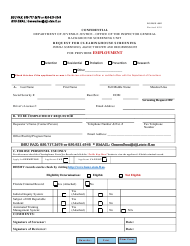 "DJJ Form IG/BSU-002 ""Request for Clearinghouse Screening for Provider Employment"" - Florida"