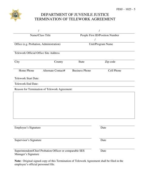Termination Of Telework Agreement Download Printable Pdf