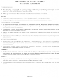 Telework Agreement Form Download Printable Pdf Templateroller