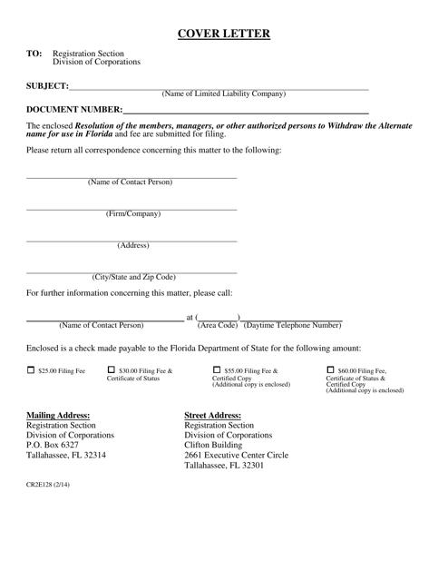 Form CR2E128  Printable Pdf