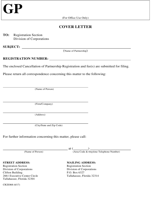 Form CR2E068  Printable Pdf