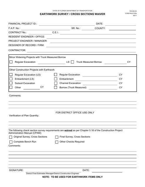Form 700-050-35  Printable Pdf